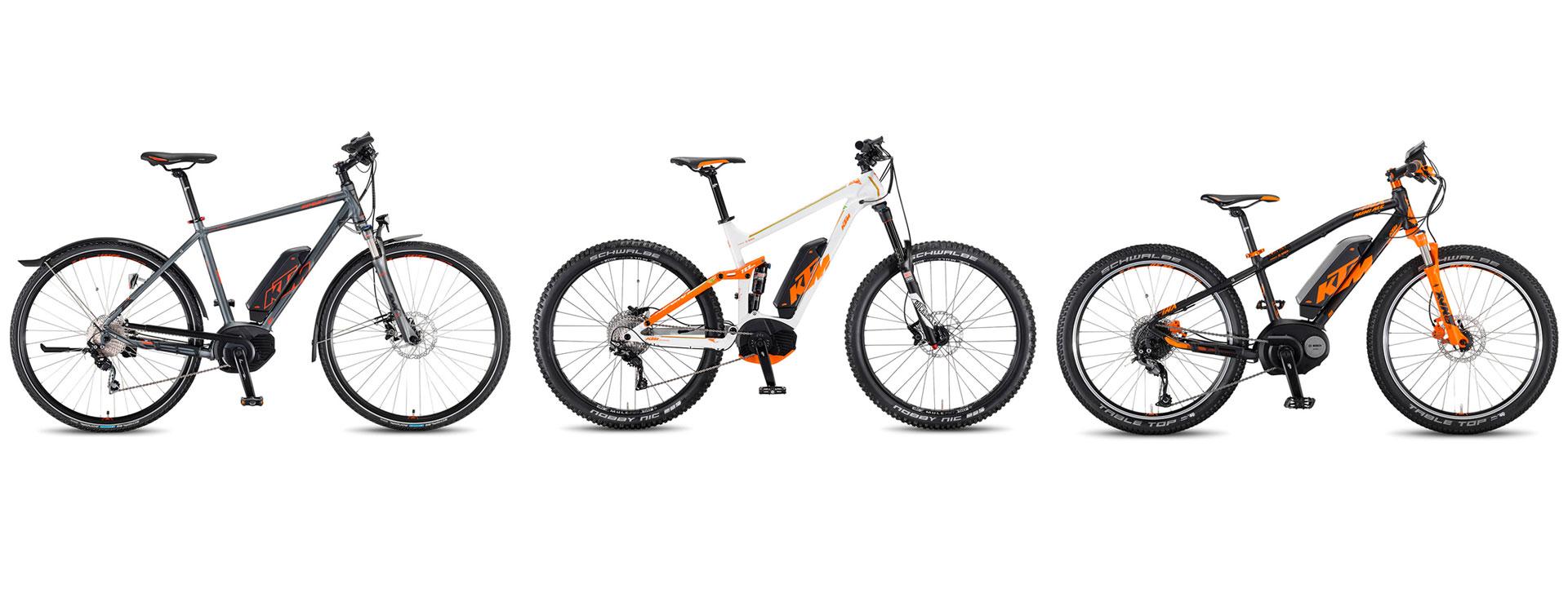 Les vélos à assistance électrique KTM